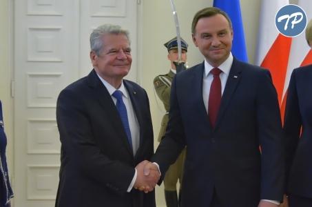 Spotkanie Andrzeja Dudy z Joachimem Gauckiem.