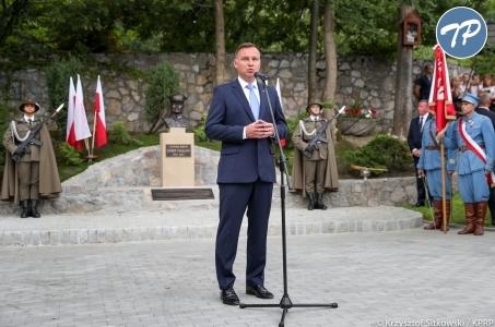 Wystąpienie Prezydenta RP podczas uroczystości odsłonięcia pomnika gen. Hallera w Jurczycach.