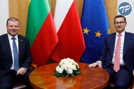 Premier Mateusz Morawiecki spotkał się z premierem Litwy.