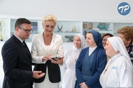 Agata Kornhauser-Duda z wizytą w szpitalu Bambino Gesu.